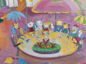 Mural at the entrance to the Kobe Ropeway. I imagine this scene smells like ice cream & heliotropes.