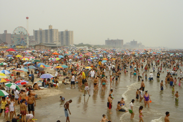 Coney Island Beach July 4 by Jaime Haire