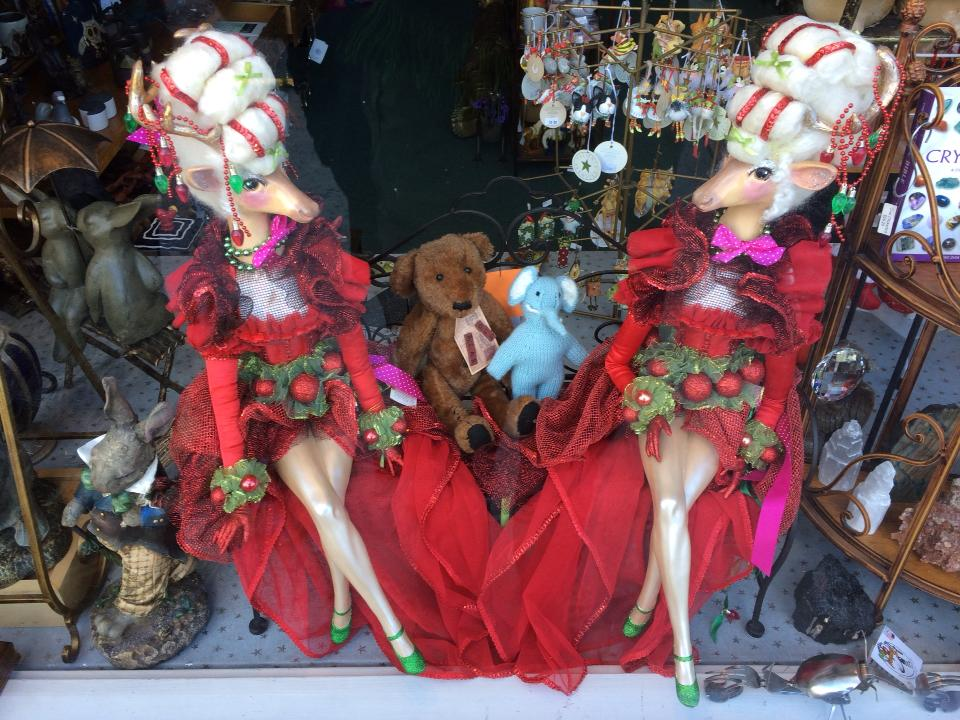 Strange trinkets and doo-dads on display in Astoria, Oregon.