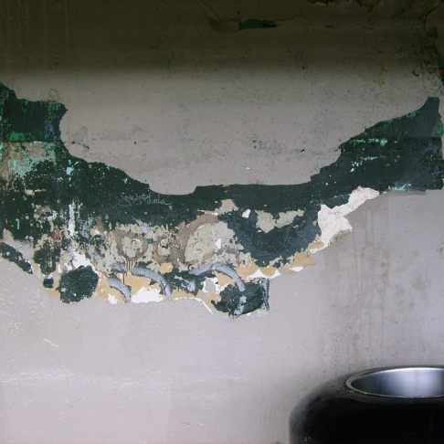 Sea-creature-esque peeling paint in the Smith-9th train station -Photo by Michael Podlasek Kent