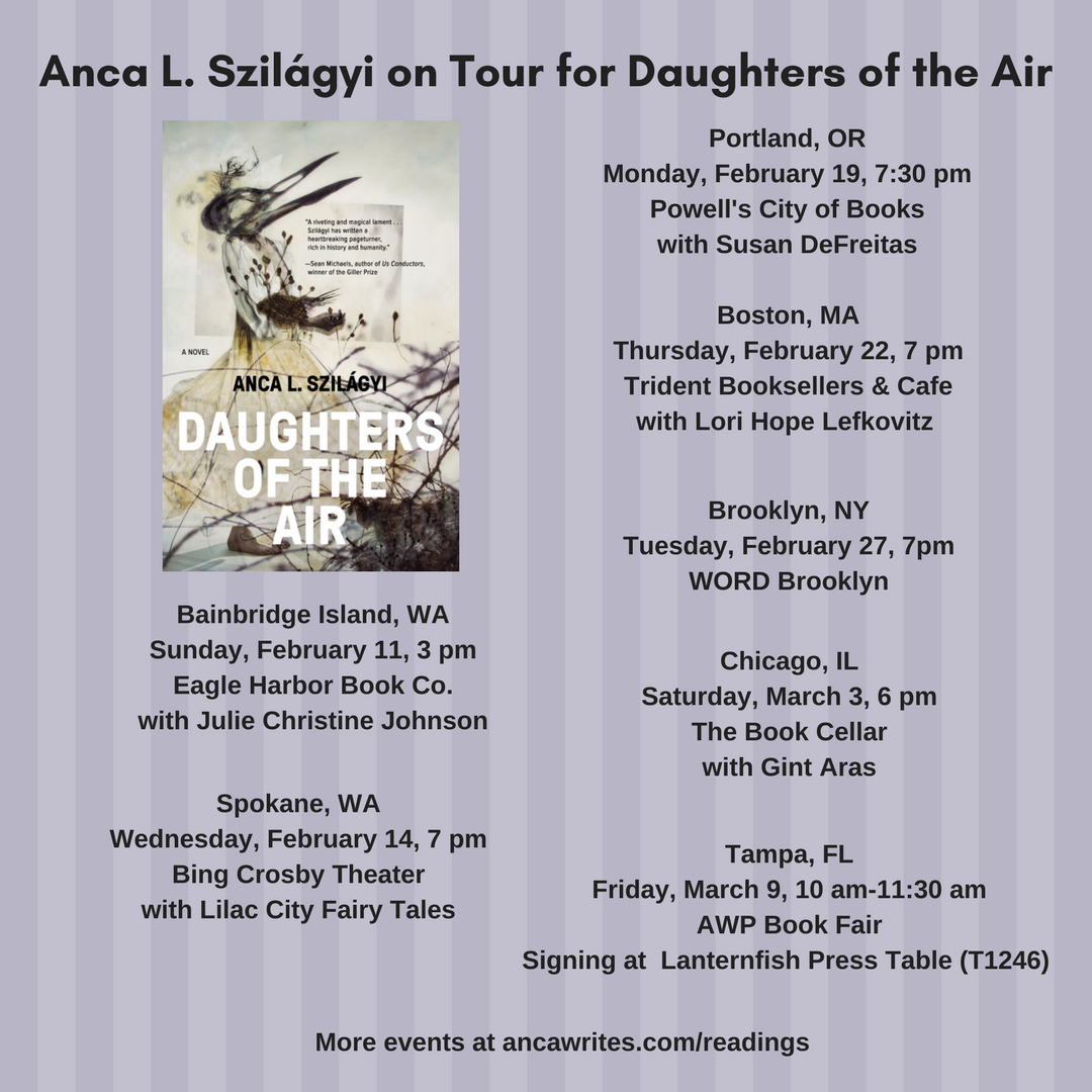 Anca L. Szilágyi on Tour for Daughters of the Air