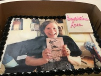 The day I first held my book, in Seattle, memorialized in cake, eaten in Chicago.